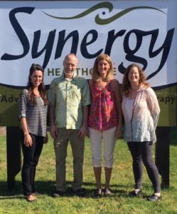 Amy Pemberton PT, Chuck Depner PT, Becky Clark (retired PT), and Shauna Burchett (owner OT)